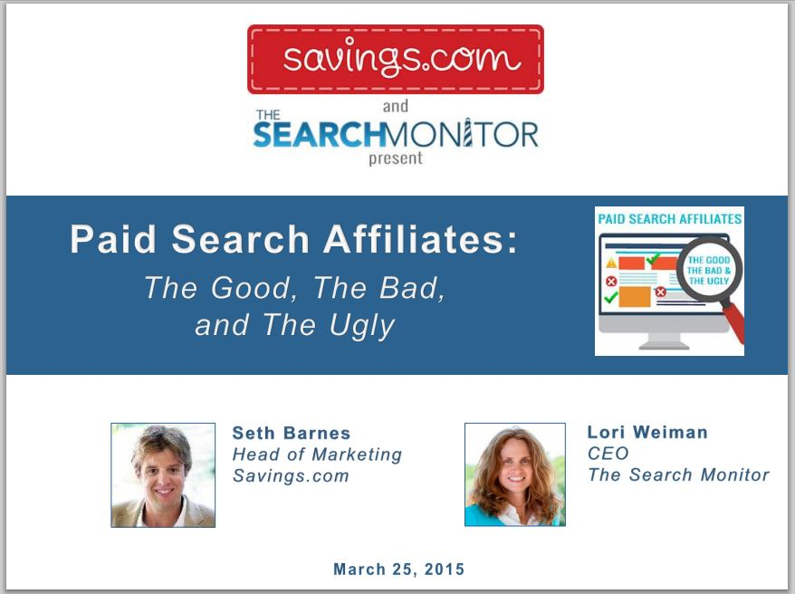 Front - Paid search affiliate management webinar
